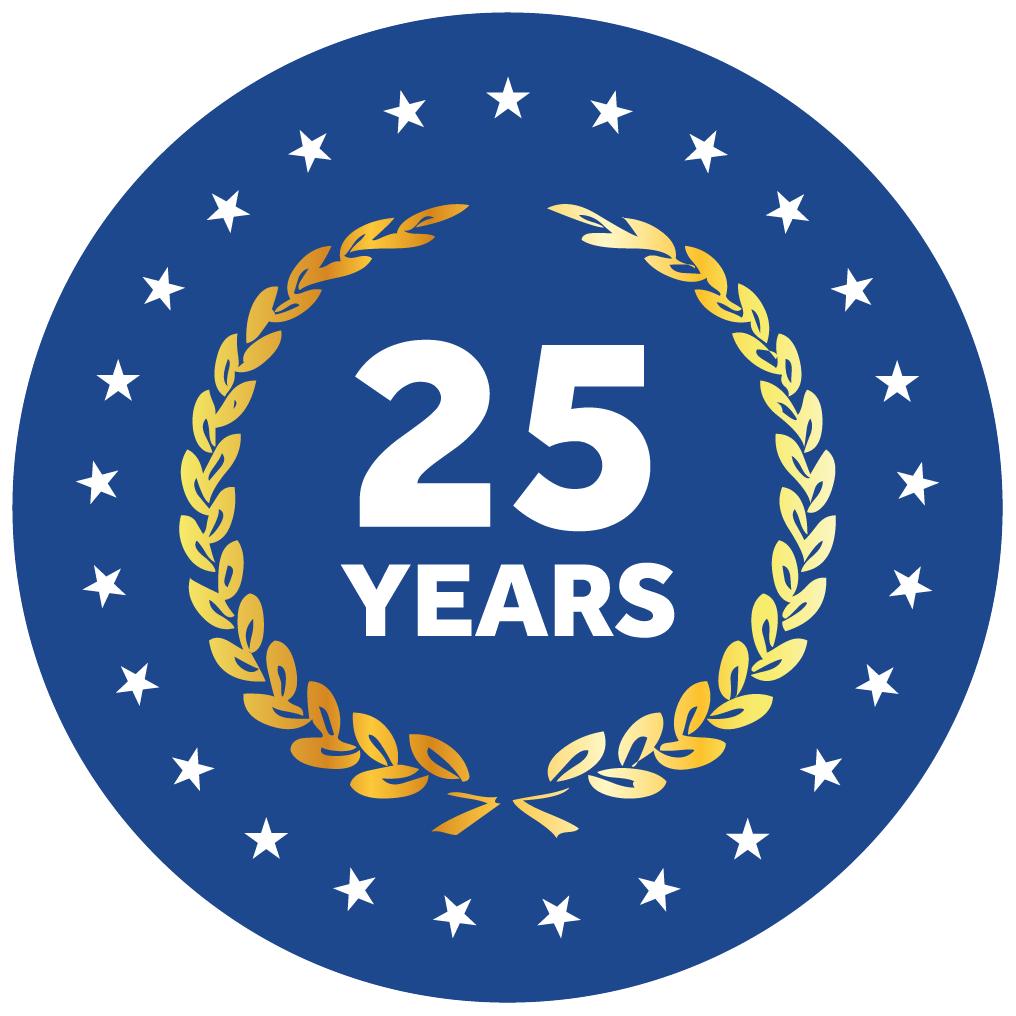 25 Years Logoform - Blue