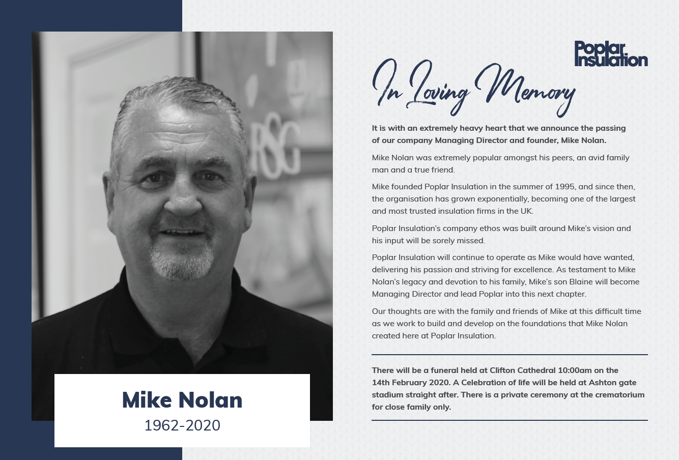 In Memory of Mike Nolan